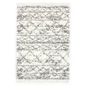 Hochflorteppich Teppich Berberteppich Hochflor PP Beige und Sandfarben 160 × 230 cm