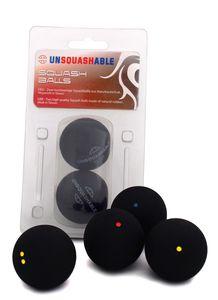 Unsquahable Squashbälle, 2er Pack, Geschwindigkeit Rot / Medium