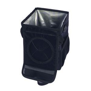 Faltbarer Autositz Rücken Aufbewahrungsbeutelhalter Behälter wasserdicht,Farbe: Schwarz,Größe:S(25x16x16cm)