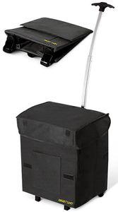 Trolley Einkaufstrolley Mehrzweck Einkaufsroller faltbar Smart Cart Camping Schwarz