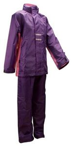 Ralka Kinder Regenanzug Mädchen Purpur/Rosa, Größe:128