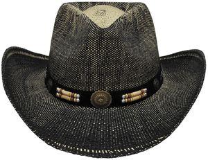 Strohhut, mit Hutband, Texas, schwarz/braun
