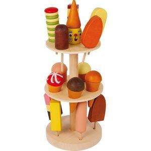 Small Foot Design 5261 Eisständer aus Holz, mit diversem Stieleis, mehrfarbig, 16-teilig (1 Set)