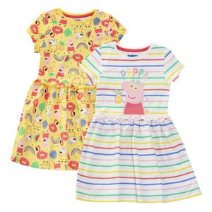 Peppa Pig - Kleid Set für Mädchen (2er-Pack) PG894 (104) (Bunt)