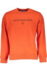CALVIN KLEIN Sweatshirt ohne Reißverschluss  Mann, Größe:M, Farbe:orange (xaq)