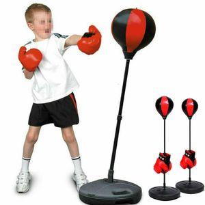 Boxen Set Standboxsack Punchingball Standbox Punchingball+ Boxhandschuhe+Pumpe Höhe 70-105cm Erwachsene/Kinder Verstellbar