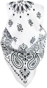Bandana Kopftuch - Weiß/Schwarz - OneSize