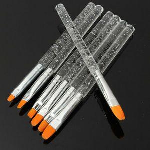 7 tlg UV Acryl Gel Nagel Pinsel Set Pinselset Nail Art Brush Maniküre Werkz J7Z4