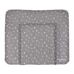 Wickelauflage HONEY | weiche Wickelunterlage |  100 | abwaschbar und pflegeleicht (50 x 70 cm, Sterne grau-weiß)