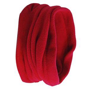 Unisex Nackenwärmer, Halsmanschette, Ohrenwärmer Stirnband Und Gesichtsmaske, rot Solide Nackenwärmer Snood Schal 26 x 30 cm