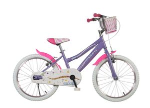 20 Zoll Mädchenfahrrad Kinder Fahrrad Kinderfahrrad Rad Rücktrittbremse Star Lila