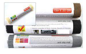 Antirutschmatte Antirutschunterlage Antirutsch Teppichunterlage 4 Rollen Set 30 x 150 cm mit Farbauswahl, Farbe:Braun