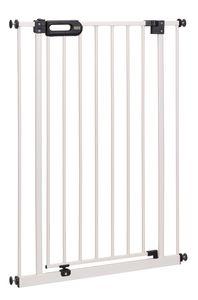 BOMI® Türschutzgitter Extrahoch 73-161 cm | Ohne Bohren | 90° Feststellfunktion | Schließt automatisch | Treppenschutzgitter