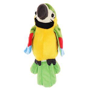 Plüsch Sprechender Papagei Elektronisches Tierhaustierspielzeug-Geschenk Für Kinderkindergrün  Grün 16x29cm Spielzeug