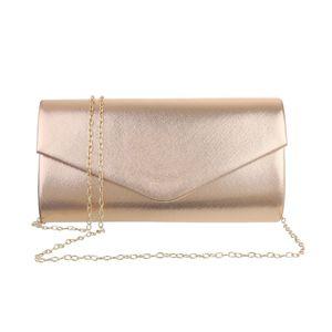 Ital-Design Damen Taschen Abendtaschen & Clutches Gold Rosa