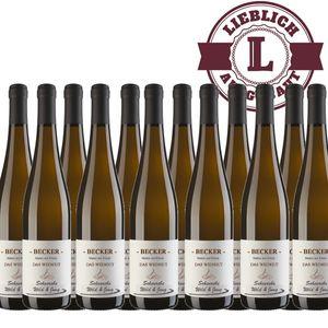 Weißwein Rheinhessen Scheurebe Weingut Becker lieblich (12 x 0,75 l)