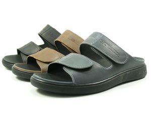 Romika 26106-46 Gomera 06 Herren Hausschuhe Pantoffeln Clogs Leder, Größe:45 EU, Farbe:Blau