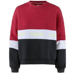 "Tommy Jeans Bluse ""Colorblock"" -  DW0DW06001 / Colorblock Sweatshirt - Schwarz, Mehrfarbig-  Größe: S(EU)"