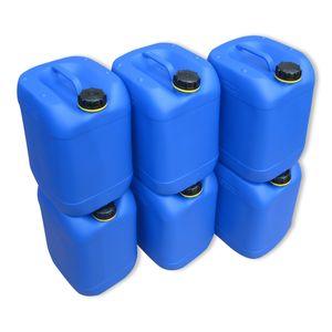 6 Stück 20 Liter Kanister Camping Wasserkanister Farbe blau
