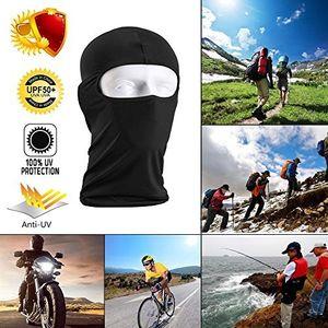 Favson 2er Pack Outdoor Bike Motorrad Helm Hals Winter Hut Windbeständigkeit Gesichtsmaske Vollgesichtsmaske für Ski / Fahren / Outdoor Sport Unisex Black & Blue
