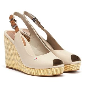 Tommy Hilfiger Schuhe Iconic Elena Sling Back Wedge, FW0FW04789AEP, Größe: 37