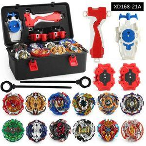Beyblade Burst Set 12 Kreisel+ 3 Werfer +Schwarz Tragbare Aufbewahrungskoffer XD168-21A Spielzeugset