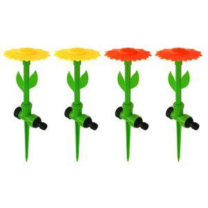 4er Set Blumen Wassersprenger Rasensprenger Wassersprinkler Gartensprenger Wasserspielzeug Sprühregner Garten Bewässerung Sprinkler