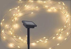 Solar Draht Lichterkette - warmweiß - mit 100 LED