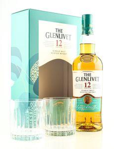 Glenlivet 12 Jahre Double Oak Geschenkset Speyside Single Malt Scotch Whisky 0,7l, alc. 40 Vol.-%