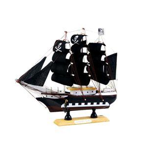 9,5 \'\' nautischen hölzernen handgefertigten Schiff Modell Pirat Segelboot Replik # 3 Schwarz wie beschrieben