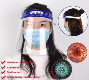 3 Stück GKA Gesichtsschutz transparenter Gesichtsschutz Visier für Labor Haushalt Küchen Wasser Staub Nebel Visier Prävention