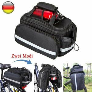 Fahrradtasche Multifunktional Gepäckträger Packtaschen Wasserdicht Satteltasche 32*28*17CM