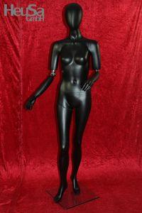 Schwarze bewegliche Schaufensterpuppe weiblich