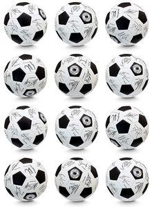 DFB 12er Set Unterschriftenball 80792- 12 Fussball WM 2018 Ball