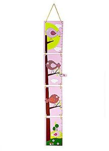 Mousehouse - Niedliche Messlatte aus Holz - Vogelmotive - für Mädchenzimmer