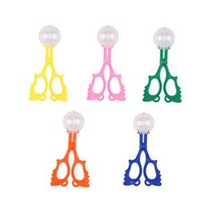 5 stücke bunte insektenfänger bug zange insekten catch clamp schere outdoor toys für kinder (blau, rosa, orange, gelb, grün stil)