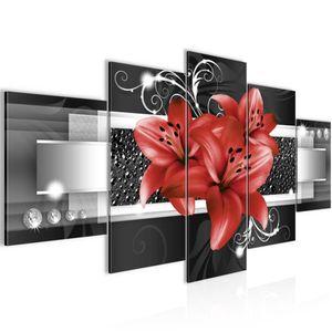 Blumen Lilien BILD :200x100 cm − FOTOGRAFIE AUF VLIES LEINWANDBILD XXL DEKORATION WANDBILDER MODERN KUNSTDRUCK MEHRTEILIG 008651c