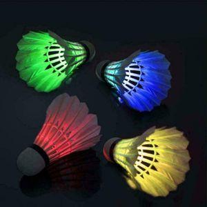 LED Speedbadminton Bälle 4er Pack Luminou Badmintonball Federball Ball Feather Glow im Outdoor-Sport