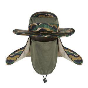 Wasserdicht Big Bucket Hats SPF 30+ UV-Schutz Fischerhut Fisherman Cap -(Tarnung,)
