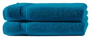 2 Duschtücher petrol 70x140 cm Set Baumwolle Frottee Duschtuch Frottiertuch groß