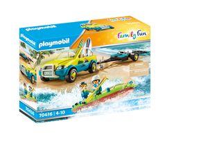 PLAYMOBIL Family Fun 70436 Strandauto mit Kanuanhänger