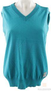 Masters Golf Fashion Da.Merino Pullunder Damen Weste Gr. 40 Blau Neu
