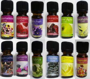 GKA 12 Stück G 20 ätherisches Duftöl Ganzjahr Obst Blumen Duft Aromaöl Raumduft Duftöle Obstdüfte Blumendüfte Romantik Wald GP10ml=0,99€