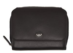 Golden Head Polo RFID Protect Zipped Billfold Coin Wallet Black