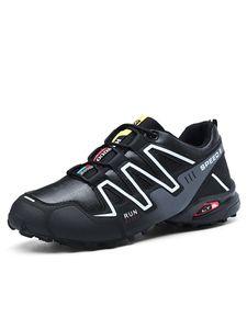Abtel Atmungsaktive Langlaufschuhe Aus Leder Für Herren Modische Sneakers Mit Geometrischem Design,Farbe: Schwarz,Größe:40