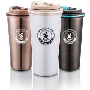Coffee Cloud Edelstahl Kaffeebecher 500ml   Doppelwandig vakuumisolierter Travel Mug   Thermobecher aus Edelstahl   Isolierbecher BPA Frei, Leicht & Auslaufsicher (Weiß)…