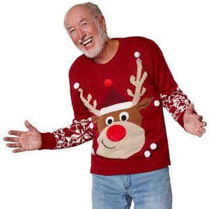 dressforfun Weihnachtspullover Rudi Rentier - XXL