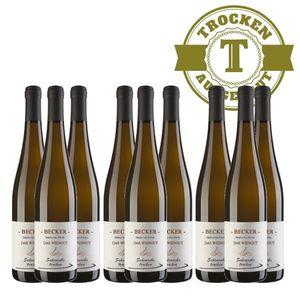 Weißwein Rheinhessen Scheurebe Weingut Becker trocken ( 9 x 0,75 l)