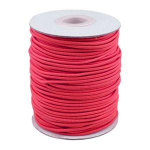 50m Spule Gummikordel Gummischnur 2mm Bekleidungsgummi Hutgummi, 29 Farben, Farbe:magenta