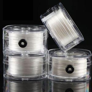 Flache Kristall elastische Faden spielen Gebet Perlen Armband Seil tragen Perle Armband elastische Schnur Kristalllinie Grosshandel weiss ca. 0,2 mm (geeignet fuer Perlen mit sehr kleinen Loechern)